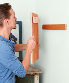 How to create a cleat (for hanging heavy objects) with wood flooring scraps. | Photo: Ryan Benyi | thisoldhouse.com