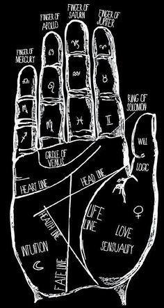 Does Your Palm Reveal About Your Personality? Im a passionate person seeking freedom in my evey day life.Im a passionate person seeking freedom in my evey day life. Witch Aesthetic, Book Of Shadows, Signs, Numerology Chart, Numerology Numbers, Shirt, Black White, Black Art, Runes