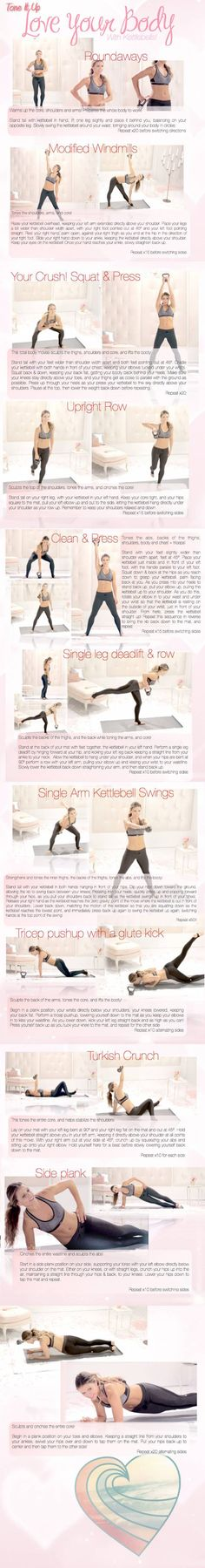 The Best Kettle Bell Workout Ever {tones every muscle in your body}