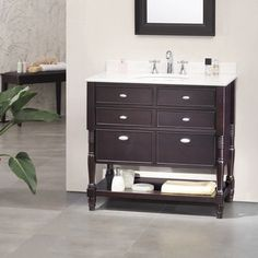 Shop for OVE Decors Elizabeth 36-inch Singe Sink Bathroom Vanity with Marble Top. Get free delivery at Overstock.com - Your Online Furniture Outlet Store! Get 5% in rewards with Club O!