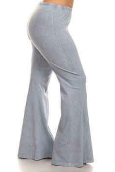 Plus Size Lavender Bell Bottom Jeans Pants | WOMEN'S FASHION OF ...