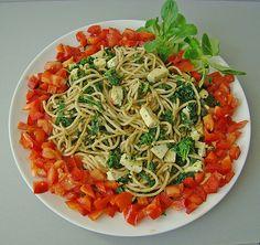 Grünkohl Spaghetti mit Tofu