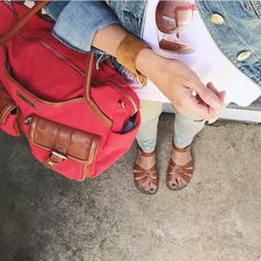 @lindsay_hellohue is looking weekend ready with her @nickelandsuede Nickel and Suede Fringe Cuff and @lilyjadeco bag. What are your plans #saturdaystyle #nickelandsuede #suedefringe
