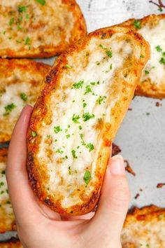 World's Best Cheesy Garlic Bread Recipe – The best garlic bread in the world. L… World's Best Cheesy Garlic Bread Recipe – The best garlic bread in the world. Loaded with cheesy goodness, and the perfect amount of garlic. Easy Bread Recipes, Garlic Recipes, Cooking Recipes, Healthy Recipes, Drink Recipes, Sliced Bread Recipes, Yummy Recipes, Cheesy Recipes, Recipes With Bread And Cheese