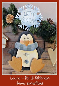 penguin. let it snow
