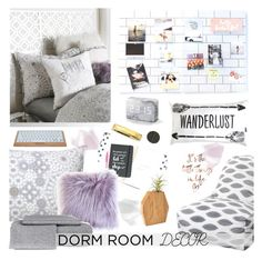 """""""Dorm Room Decor"""" by southernpearldesigns ❤ liked on Polyvore featuring interior, interiors, interior design, home, home decor and interior decorating"""