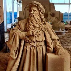 Sand sculpture - Leonardo da Vinci