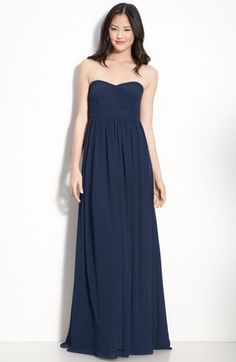Jenny Yoo 'Aidan' Convertible Strapless Chiffon Gown available at #Nordstrom