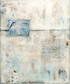Winter Song 2, original mixed media painting by Laly Mille