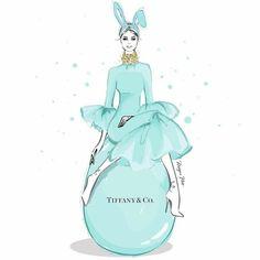 Megan Hess Illustration, Illustration Art, Kerrie Hess, Happy Easter Everyone, 2 Logo, Collage, Tiffany And Co, Tiffany Room, Tiffany Theme