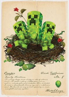 Creeper hatchlings by AJ Hateley
