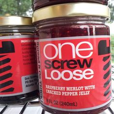 Yummy jellies from One Screw Loose- this raspberry merlot is awesome... hand made in Atlanta