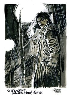 james o'barr - the crow color commission Comic Art
