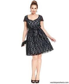 Trixxi Plus Size Cap-Sleeve Lace A-Line Dress - Dresses - Plus Sizes - Macy's Plus Size Prom, Plus Size Dresses, Plus Size Outfits, Event Dresses, Fall Dresses, Formal Dresses, Dresser, Cute Dresses For Party, Fabulous Dresses