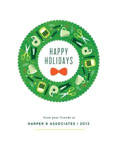 This corporate holiday card is perfect for a variety of businesses looking to send something fun and festive! Holiday Emails, Corporate Holiday Cards, Business Holiday Cards, University Holidays, Business Look, Work Inspiration, Special Day, Hanukkah, Happy Holidays