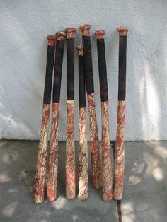 DAVE LOWE DESIGN the Blog: Making a Zombie Bashing Baseball Bat Prop Arsenal