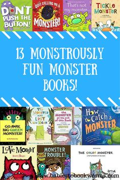 Enjoy these sweet and funny books about monsters as a family. From monster board books to picture books that teach an important lesson, there is something for everyone!  #KidsBooks #MonsterBooks #HalloweenBooks