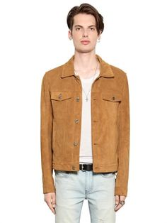 BLK DNM - CLEAN CUT SUEDE JACKET - TAN
