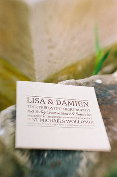 Font driven inspiration - DIY invitations by the bride and groom. Photography by lachlanburrell.com.au