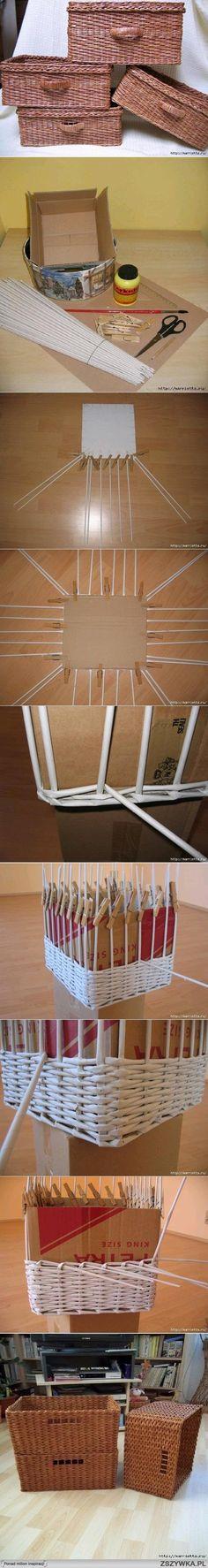 diy, diy projects, diy craft, handmade, diy ideas, diy newspaper weave basket
