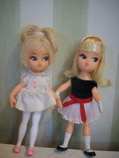"Vintage ""Dolly Darling"" dolls"