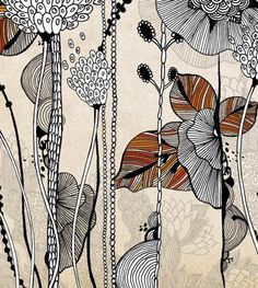 Floral 3 Giclee Print 11x14 by onesweetorange on Etsy