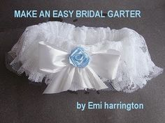 DIY bridal garter-- no sewing machine required. I used lace from my mom's wedding dress, and used a beaded embellishment from her dress instead of the bow. Took only about 30-45 minutes to complete and I'll keep as an heirloom after the wedding :) -Tori
