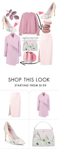 """""""Untitled #99"""" by bombayduck ❤ liked on Polyvore featuring MSGM, Vince, Ted Baker, Denby and IWearPinkFor"""