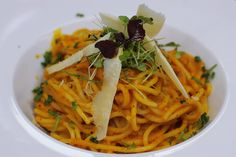 Tekvicové špagety - Powered by Spaghetti, Healthy Recipes, Healthy Food, Pasta, Vegan, Chicken, Cooking, Fit, Ethnic Recipes