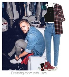 """Dressing-room with Liam"" by reasongirl ❤ liked on Polyvore featuring Boohoo, Vetements, Converse and BCBGeneration"