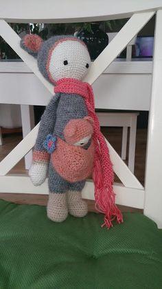 KIRA the kangaroo made by Katja K. / crochet pattern by lalylala