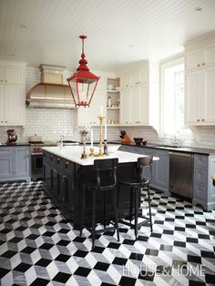 Tommy Smythe's Kitchen | Photo Gallery: Pattern Underfoot | House & Home | Photo by Angus Fergusson
