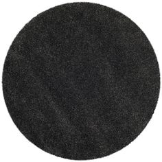 Safavieh SG180-8484 Milan Shag Collection Round Area Rug, 5-Feet 1-Inch Diameter, Dark Grey