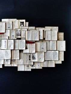 Amazing things to do with old books, Love it!