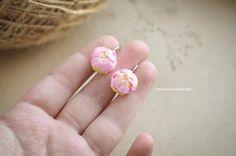 Jewelry  Earrings  peony earrings  pink peonies  peony jewelry  flower earrings  fimo earrings  clay peony  flower jewelry