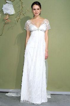 Ravishing Empire Wedding Dresses with Capped Sleeve   Beautiful ...