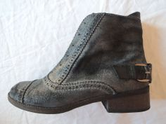 JOE'S  CROPPED DISTRESSED LEATHER JUMP ANKLE BOOTS on www.FullCircleFashion.com