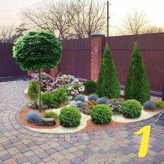 Front Yard Garden Design, Front House Landscaping, Front Garden Landscape, Backyard Garden Design, Small Garden Design, Landscaping With Rocks, Outdoor Landscaping, Back Gardens, Outdoor Gardens