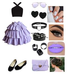 """""""Не знаю как вам, но мне миленько))"""" by lovekikk ❤ liked on Polyvore featuring BCBGMAXAZRIA, Ray-Ban and Betsey Johnson"""