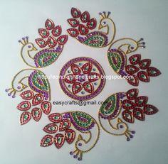 Easy Crafts - Explore your creativity: Kundan rangolis