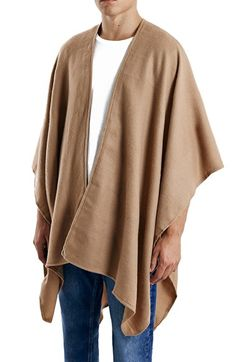 Free shipping and returns on Topman Woven Cape at Nordstrom.com. A soft, open-front cape drapes the body and blankets your go-to winter outfit with cozy warmth.