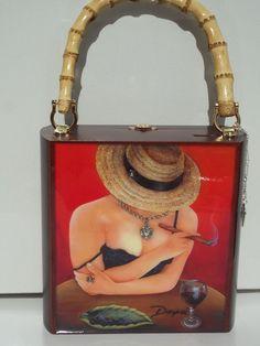 e422a8e2ec Exclusive Cigar Box Purse w  Bamboo Handle Five by thebestart1122