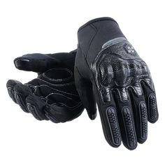 MEDIUM Skeleton Hand GLOVES ADJUSTABLE WRIST Fingers Mechanic Biker Motorcycle M