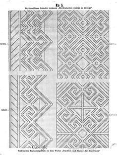 Käytännöllisiä lisälehtiä teokseen Mordvalaisten pukuja ja kuoseja - Praktische Ergänzungsblätter zu dem Werke Trachten und Muster der Mordvinen - (11 of 97) (No 5 of No 45)
