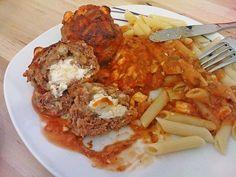 Beste Rezept: Hackfleischbällchen mit Schafskäse in Tomatensauce