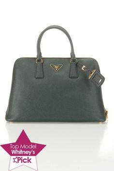 Prada Saffiano Lux Bauletto Bag In Emerald