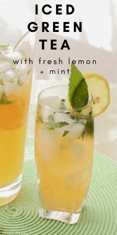 Look no further for the BEST Iced Green Tea recipe. This tea is lightly sweetened with cane sugar and flavoured with fresh lemon and mint. Super easy and so much better than Starbucks. Cold Green Tea, Best Green Tea, Green Tea With Sugar, Green Tea Coffee, Best Tea, Green Tea Lemonade, Green Tea Drinks, Green Teas, Green Tea Recipes