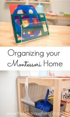 Types of organization solutions for Montessori homes - easy ways to organization and accessibility of your spaces. Play Based Learning, Learning Spaces, Kids Learning, Montessori Preschool, Preschool Activities, Montessori Baby Rooms, Toy Organization, Classroom Organization, Montessori Practical Life