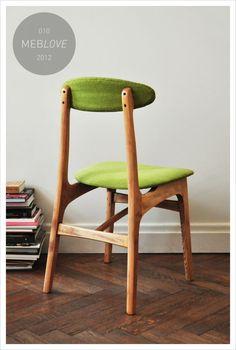 meblove 010     vintage design green, lime chair
