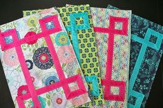 Fat Quarter Gang Tutorial - The Unquilted Ribbon-Embellished Placemats by Freshly Pieced